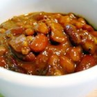 Pat's Baked Beans - Not your average baked beans!  This recipe combines pinto, northern, baked, kidney and garbanzo beans with bacon and onion.  Try this for a break from the ordinary.