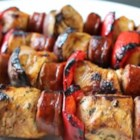 Chorizo and Chicken Skewers - Spice up your usual chicken kabobs with Chef John's recipe for chorizo and chicken skewers - the perfect way to grill this summer!