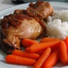 Slow Cooker Adobo Chicken - An easy slow cooker recipe with soy sauce, garlic, and onion. Do not be put off by the vinegar -- it tenderizes the chicken and loses its potent flavor in the cooking.