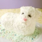 Easter Lamb Cake II - This white cake is baked in a lamb mold for Easter and can be decorated to look like a little lamb. If desired, spices can be added just before adding the egg whites.  Some good choices are anise, nutmeg or cinnamon.