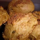 Pumpkin Raisin Scones - If you like pumpkin, you'll love these breakfast treats. More like a muffin than a traditional scone, they combine all-purpose and whole wheat flour, along with applesauce, spices, pecans, and raisins.