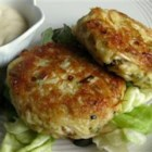 Low-Carb Tuna and Mackerel Cakes - Tuna and mackerel cakes get a hint of salty flavor thanks to crushed pork rinds added to the batter. Serve with tartar sauce  for an appetizer.