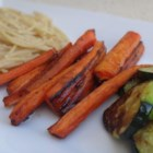Balsamic Roasted Carrots - Oven-roasted carrots seasoned with balsamic vinegar is a simple and delicious side dish.