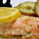 Garlic Lemon Butter Salmon - Lemons, butter, and a few cloves of garlic are all you need to turn an easy salmon dinner into a delicious event.