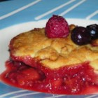 Raspberry and Blueberry Cobbler - This cobbler recipe uses blueberries and raspberries to deliver a delicious summery treat.