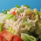 Creamy and Crunchy Tuna Salad Supreme - Cream cheese makes this tuna salad rich and creamy, diced carrot makes it crunchy, and red bell pepper makes it pretty. Add baby spinach or lettuce leaves, and serve on your favorite bread or as a wrap in a tortilla.