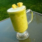 Banana Pineapple Green Blend - This quick and easy green smoothie with pineapple makes a great snack.