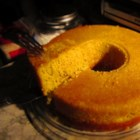 Sweet Cornmeal Cake Brazilian-Style - This Brazilian recipe mashes cornbread and cake together for a great accompaniment to a mug of coffee.