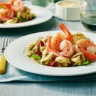 Garlic Shrimp with Three Cheese Tortellini - Sautéed Garlic Shrimp combined with Three Cheese Tortellini, sun-dried tomatoes and basil make a tasty, colorful, and elegant lunch or dinner main dish.