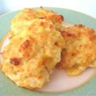 Cheddar Biscuits - Buttermilk baking mix does the trick in these savory biscuits, with the addition of Cheddar cheese, garlic, parsley and milk.