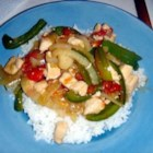 Chicken Pepper Steak - Chicken breast simmered with onion, bell pepper, tomatoes, soy sauce, and spices to be served with a rich pepper steak style gravy. If you like the taste of pepper steak but really don't enjoy red meat, try it with chicken!