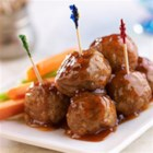 Peachy BBQ Meatballs - These appetizer meatballs with a sweet and sour sauce are ready to serve in ten minutes!