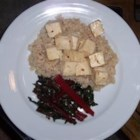 Wicked Garlic Tofu Saute - Amazingly fast and tasty recipe, very healthy too. Even the husband (not normally a huge tofu fan) enjoys it. I love it with tons of garlic but you can use less if you must. The oyster sauce I don't measure so it's approximate. It's pretty salty so use it to your taste. You could serve it with cooked white rice, but it's just as good plain.