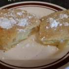 Pineapple Flip - This is a pie baked on a jelly-roll pan. Great for a large family gathering.