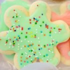 Sugar Cookies with Buttercream Frosting - These cookies are melt-in-your-mouth delicious. They are simple to make and kids love to lick the frosting off the tops. Butter flavoring is in the buttercream for added flavor. You can find it in most supermarkets, in the baking aisle, where there are other flavorings such as vanilla.
