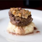 Photo of: Blue Cheese Crusted Filet Mignon with Port Wine Sauce - Recipe of the Day