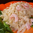 Shrimp Vermicelli Salad - A cold shrimp and vermicelli salad in an herbed mayonnaise dressing.