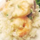 Shrimp in Sherry Cream Sauce - Creamy microwaved shrimp over rice.