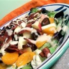 Fruit and Bacon Salad - Tossing crunchy apples, crisp turkey bacon, and Mandarin oranges with honey Dijon dressing makes for a wonderfully refreshing salad!