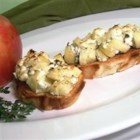 Apple Goat Cheese Bruschetta - Topping French bread slices with a mixture of apple, goat cheese, and herbs makes a delicious and quick appetizer.