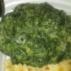 Creamed Spinach for a Small Family - Creamed spinach has never been so easy with this recipe that calls for cream of celery soup, butter, and spices.