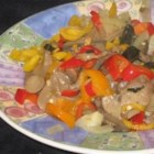 Baked Mushrooms - In this savory dish  mushrooms are baked with bell pepper, garlic, Italian seasoning and parsley.