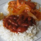 Habichuelas Guisadas - A perfect side dish for Carne Guisada. These are the Puerto Rican version of beans.