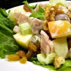 Hammin' Up The Waldorf - This tasty and colorful salad balances the sweetness of apples with the savoriness of ham, and is bursting with the fresh flavors of crunchy celery, orange juice and fresh parsley.