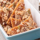Salted Caramel Nut Brittle - This favorite candy gets a hearty update with almonds, cashews, pumpkin seeds and sesame seeds.