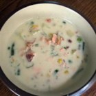 Simple Salmon Chowder II - This is a hearty but mild flavored fish chowder. It's a great way to use a piece of salmon that's too small to do much else with. Serve with toasted sourdough bread.