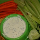 Garlic Feta Dip - For serious garlic lovers! Start with 2 cloves garlic in this creamy, tangy dip and add more if you can handle it. Totally addictive. Serve with toasted Greek pita and raw vegetables.