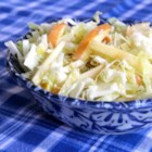 Easy Apple Cabbage Slaw - This recipe for apple cabbage slaw is perfect to top a pulled pork sandwich or as a side dish on its own.