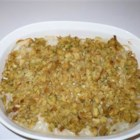 One Dish Chicken Bake - Prepared stuffing and chicken breasts enjoy the extra touch of an easy mushroom sauce.