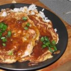 Egg Foo Yung II - Leftover chicken, beef and pork can all be sauteed with mushrooms, sprouts, onion and of course eggs! The accompanying sauce is simple and flavorful.