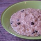 Super Duper Oatmeal - Oatmeal is cooked with berries, applesauce, and wheat germ. It's delicious!