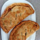 Warm Apple Pocket - Like an apple pie sandwich! - Sliced apples and spices folded into prepared pie crust. So easy it makes you just want to put it in your pocket!