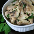 Vegan Mushroom Salad - This recipe for mushrooms marinated in a lemony dressing is a deliciously tart summertime treat.