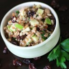 Cherry Farro Salad with Sweet Vinaigrette - Dried cherry and farro salad with toasted walnuts is tossed in a sweet vinaigrette, creating a refreshing and hearty salad.