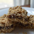 Date Bars II - Softly spiced date filling between oatmeal-crumb layers.