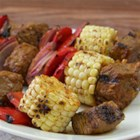 Southwest Steak and Corn Kabobs - Gluten-Free Taco Seasoning Mix adds the flavors of the Southwest to a marinade for steak cubes for kabobs. Use fresh corn at the peak of its season so it grills up sweet and tender.