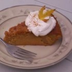No Crust Pumpkin Pie - A time saving and a great tasting pumpkin pie. Makes its own crust.