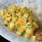 Yellow Squash and Corn Saute - Yellow squash and corn are sauteed with butter and parsley for a colorful, quick, and easy side dish for summer dinners.