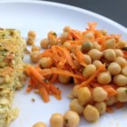 Quick and Easy Carrot and Chickpea Salad - Carrot and chickpea salad tossed in a simple lemon vinaigrette is a quick and easy salad for lunch or side dish for dinner.