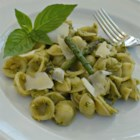 Pasta with Asparagus Pesto - Asparagus is the secret ingredient in this new twist on pesto. Serve with orecchiette pasta and Pecorino-Romano cheese for an Italian-inspired meal.