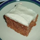 Zucchini Cake I - This is a very moist cake, similar to carrot cake, iced with cream cheese frosting.