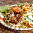 Saigon Noodle Salad - When it's too hot to cook this summer, use some leftover grilled shrimp, rice noodles, vegetables, herbs, and homemade dressing for a Vietnamese-style salad.