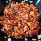 Slow Cooker Chicken and Sausage Chili - Ground chicken and Italian sausage set this chili apart.
