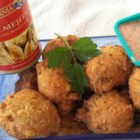 Jimmy's Clam and Corn Fritters - A Southern-style fusion of clam fritters and hush puppies combines the best of both in one savory, golden-brown treat.