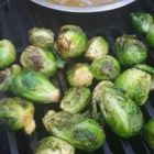 Grilled Brussels Sprouts - Grilled Brussels sprouts coated in butter and garlic powder are a quick and easy side dish for barbeques.