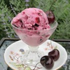 Cherry Cheesecake Frozen Yogurt - Fresh cherries and cream cheese lend their flavors to this yummy frozen treat.